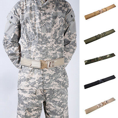 Outdoor Hiking Sport Quick Waistband Army Tactical Military Trouser Buckle Belt@