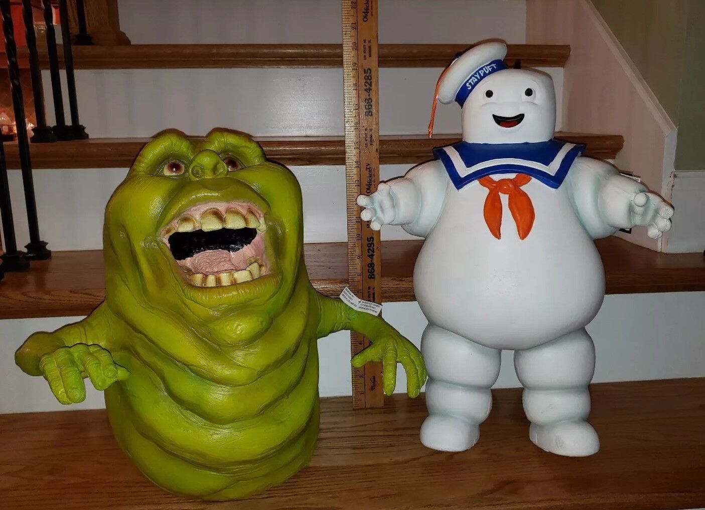 Nuovo Spirit Store Ghostbusters 17  Hanging Slimer & 21  Stay Puft Marshmallow Man