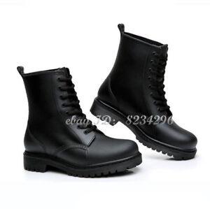 Männlich Regentiefel Herrenschuhe Stiefeletten High-TOP Schuhe Wasserdichte NEU