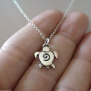 Sea-Turtle-Necklace-925-Sterling-Silver-Turtle-Tortoise-Charm-Jewelry-NEW