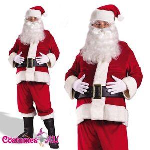 Mens-Flannel-Santa-Claus-Suit-Clause-Christmas-Xmas-Fancy-Dress-Adult-Costume
