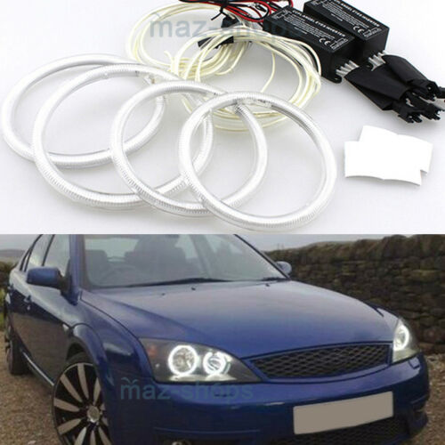 CCFL Angel Eyes Halo Rings Demon Devil DRL Lamp For FORD Mondeo Mk III 2002-2007