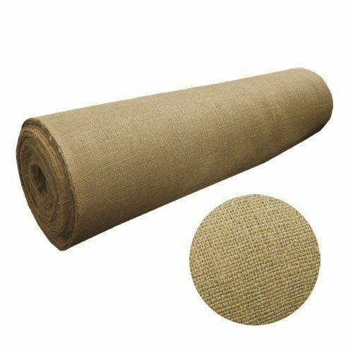 100 Yards Burlap Fabric 40  Wide 100% Natural Jute Heavy Upholstery Decorations