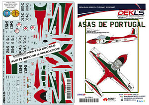 Decals-Cessna-T-37C-039-Tweety-Bird-039-Asas-Portugal-Aerobatic-Team-1-72-Scale