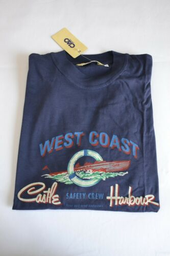 Rare Vintage 80/'s 90/'s Ciao green yellow blue west coast t-shirt