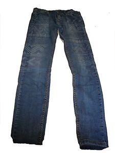 Fishbone-tolle-Jeans-Hose-Gr-26-mit-genialer-Musterung