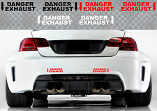 2 X DANGER EXHAUST BMW M3 M5 M6 RACING 22cmX6cm AUTOCOLLANT STICKER DA141