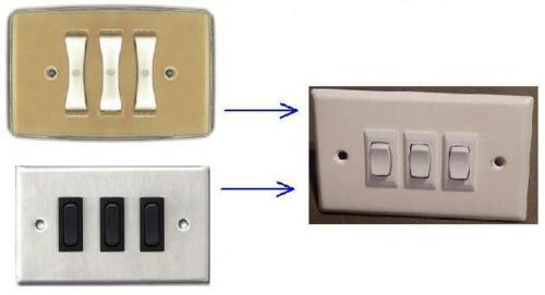 New Replacement for Remcon //Amprobe 3 White Rocker Switches and Wall Plate