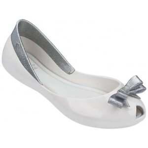 buy online 87386 b05ba Dettagli su Melissa Shoes Bambini Regina Ballerine, Argento con Glitter