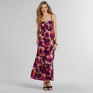 Sofia-Vergara-Women-039-s-Floral-Maxi-Dress-Sundress-Smocked-Dress-Medium
