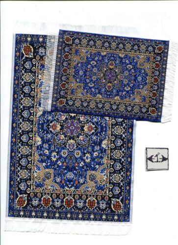 Rug Set 18MS  miniature dollhouse woven carpet 2pc 1//12 scale made in Turkey