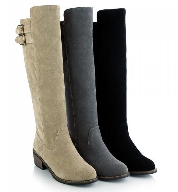 Botines botas zapatos botas militares mujer talón 6 cm como piel cómodo 9117