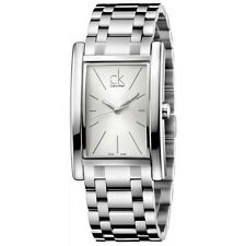 CK Calvin Klein Swiss Made Orologio Watch Refine Acciaio Silver Bianco K4P21146