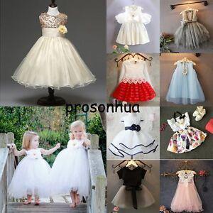 3db9a3b17a4 Flower Girls Summer Skirt Princess Dress Kids Baby Party Pageant ...