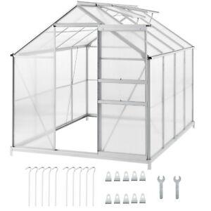gew chshaus treibhaus pflanzenhaus alu gartenhaus mit fundament garten fr hbeet ebay. Black Bedroom Furniture Sets. Home Design Ideas