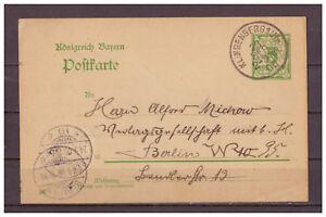 Baviere-Entier-Postal-P-56-Klingenberg-apres-Berlin-23-09-1908