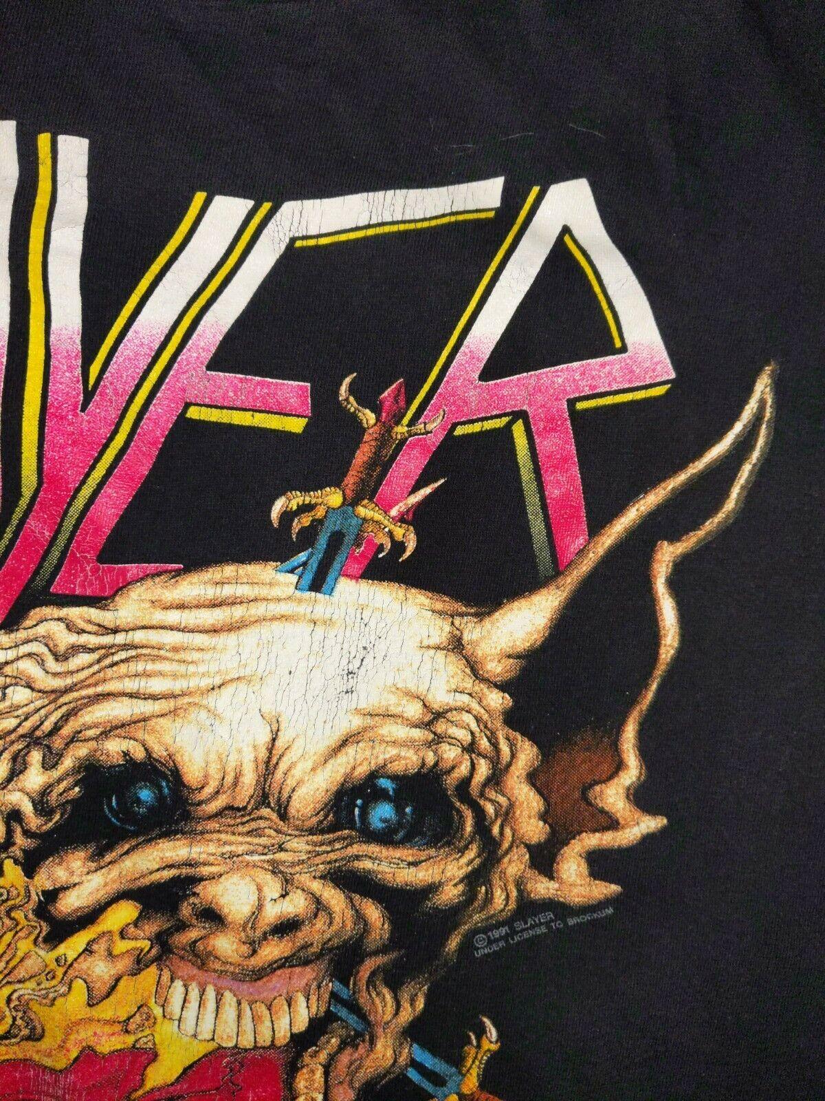 SLAYER XL 1991 Clash of The Titans Vintage T Shir… - image 6