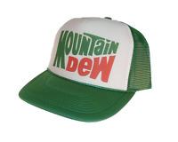 Mountain Dew Soda Hat Trucker Hat Mesh Hat Green Adjustable