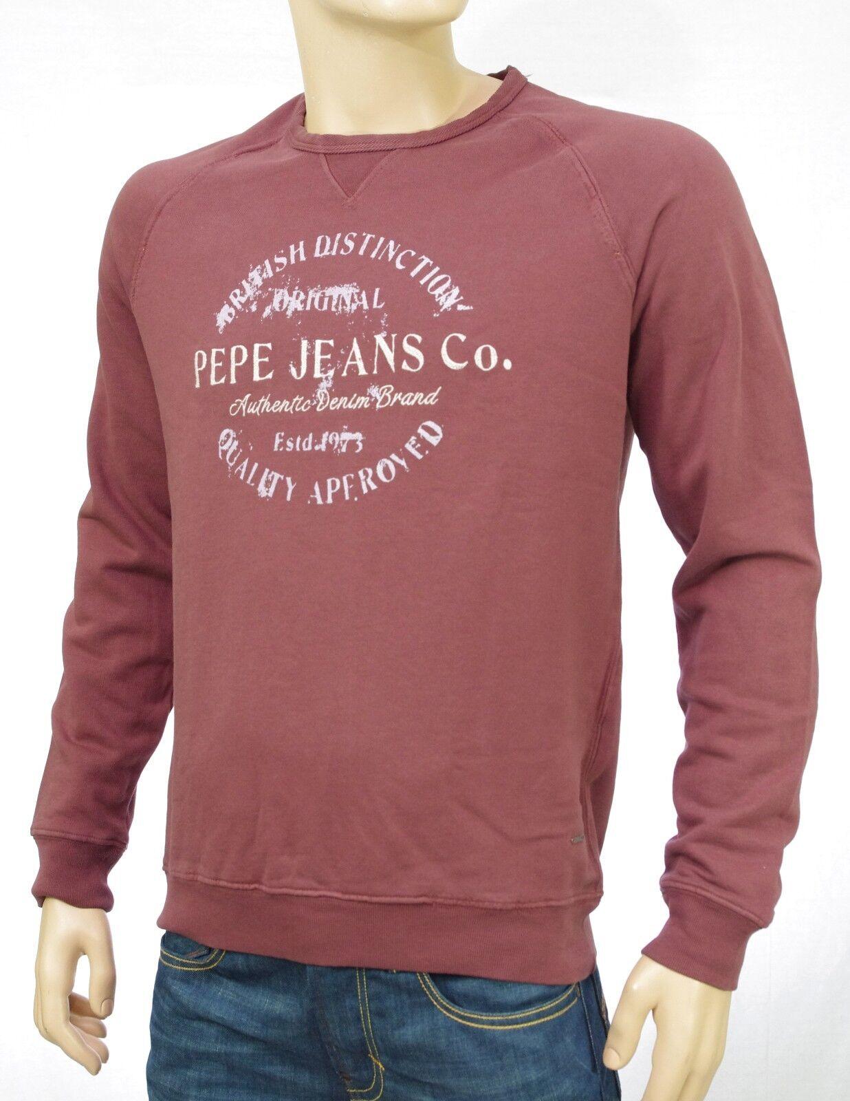 13ed93c78e3 Sweat shirt PEPE JEANS homme bordeaux RYAN Raisin PM581118 coloris ...