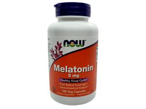 NOW-FOODS-MELATONIN-5mg-180-Vegane-Kapseln-Besserer-Schlaf-JET-LAG-Aid-FREE-P-amp-P