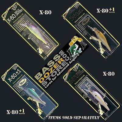 Megabass X-80 or X-80 +1 Trick Darter jerkbait bass fishing lures