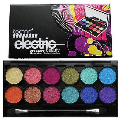 Technic Electric Eyes 12 Colour EyeShadow Palette Bright Colours