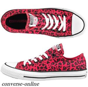 Size Pink All Shoes 3 Leopard Uk Animal Converse Ox Pumps Womens 5 Trainers Star Xgwq1PHH