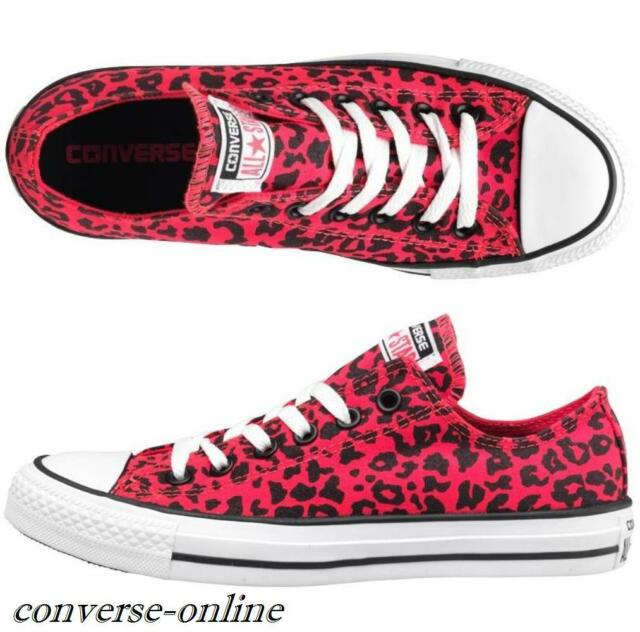 75ffb3bf2e8d Womens CONVERSE All Star ANIMAL OX PINK LEOPARD Trainers Shoes Pumps UK SIZE  3.5