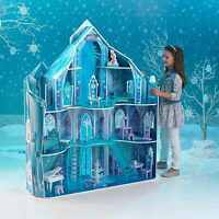 Kidkraft Disney® Frozen Snowflake Mansion Wooden Kids Dolls House Furniture