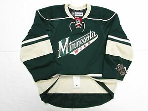 separation shoes 4648e 307ca Details about MINNESOTA WILD AUTHENTIC THIRD GREEN REEBOK EDGE 2.0 7287  HOCKEY JERSEY