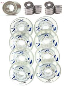 4-8er Set Kryptonics True Pure Rouleau 78mm Roller Skates + Op. Roulements Abec Texture Nette