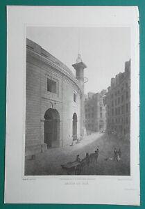 PARIS-Corn-Hall-Halle-au-Ble-1821-Cpt-Batty-Antique-Print