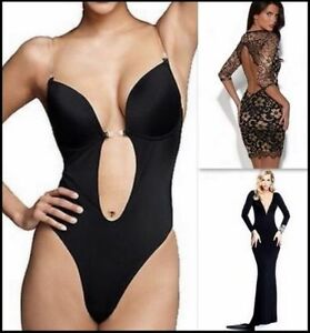 Sexy backless full body shaper thong bikini for prom evening dresses bra s xl ebay - Body interior espalda descubierta ...