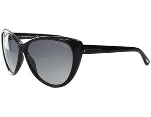 0320128c216a Details about Tom Ford Malin Sunglasses Shinny Black Frame Gradient Lens  FT230 01B 61-13 135