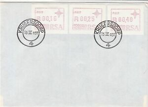 republic of south africa 1988 atm stamps cover ref 19187