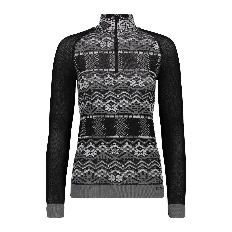 CMP Pull Fonctionnel Shirt Fonctionnel Femme sans Couture Sweat black   save 50%-75%off
