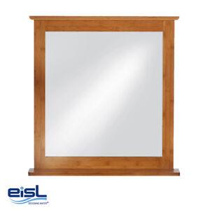 eisl bambus wandspiegel bmba02 sp badezimmer spiegel naturholz mit ablage ebay. Black Bedroom Furniture Sets. Home Design Ideas