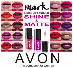 Avon Mark Liquid Lip Lacquer Lipstick 20 Various Matte Shine