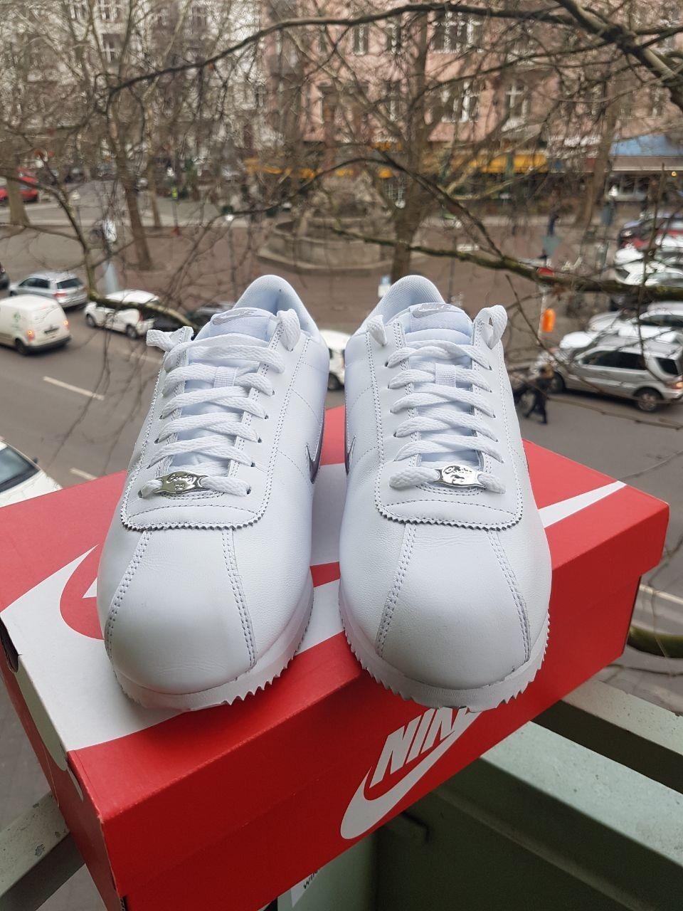 NIKE CORTEZ BASIC JEWEL Sneaker Herren Herrenschuhe Turnschuhe Weiss 833238-101