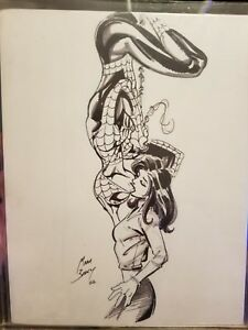 362c6b1a1755 Image is loading Spider-Man-Original-Sketch-By-Mark-Bagley