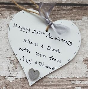 25th Wedding Anniversary Gift Personalised Silver Anniversary Gift
