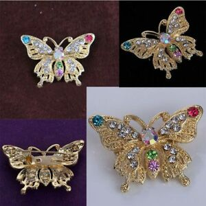 Butterfly-Style-Party-Jewelry-Dress-Accseeories-Crystal-Rhinestone-Brooch-Pin