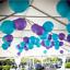 12x Blue Purple Peacock Paper Lanterns Wedding Birthday Party Venue Decoration