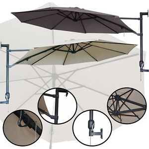 balkonschirm 3m wandschirm ampelschirm sonnenschirm wandmontage 300cm freiarm ebay. Black Bedroom Furniture Sets. Home Design Ideas