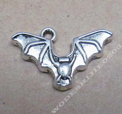 20pc Charms Dangle Bat Animal Accessories Bead Findings Tibetan Silver SAO181