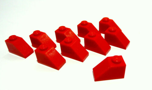 10 x LEGO® 3040 rote Dachsteine  1x2/45° wie auf dem Foto gebraucht. LEGO Bau- & Konstruktionsspielzeug Baukästen & Konstruktion
