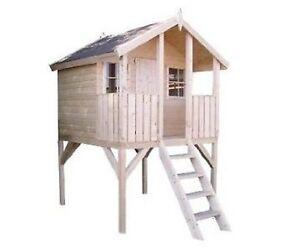 kinderhaus tobi 2 wahl kinderspielhaus gartenhaus stelzenhaus spielhaus holz ebay. Black Bedroom Furniture Sets. Home Design Ideas