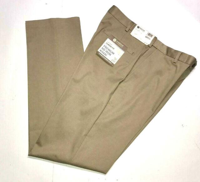 HAGGAR Premium No Iron Pants Classic Stretch Expandable Flex Waist NWT Dark Grey