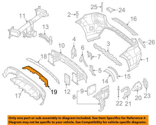 MERCEDES OEM 16-18 GLE350-Bumper Trim-Molding 1668857622