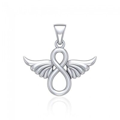 Angel Wing .925 Sterling Silver Pendant by Peter Stone Jewelry